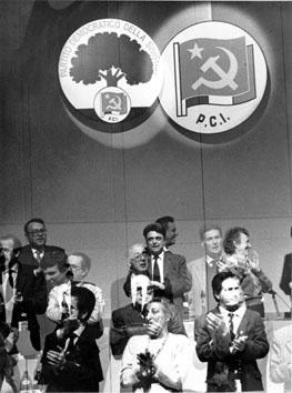 Rimini, Febbraio 1991 - Congresso Pci combia in Pds