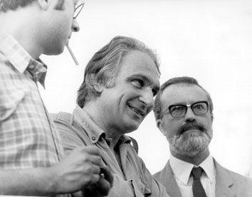 Firenze, Giugno 1971 - Marco Pannella e Eugenio Scalfari alla manifestazione sul divorzio