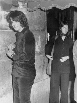 Roma, Novembre 1970 - Christian De Sica con Isabella Rossellini