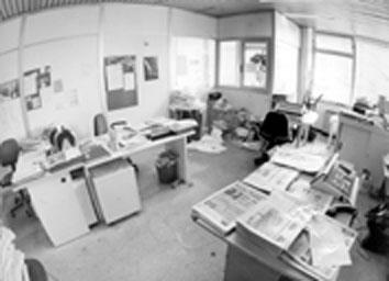 """Roma, Giugno 1994 - Redazione abbandonata """"Paese Sera muore"""""""