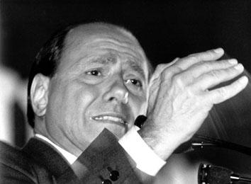 Roma, Aprile 1995 - Elezioni Silvio Berlusconi
