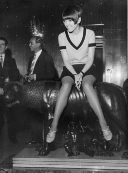 Roma, Marzo 1967 - Mary Quant Creatrice della minigonna