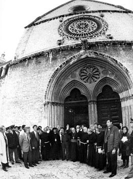 Assisi, Aprile 1990 - Visita di Yasser Arafat