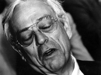 Roma, Luglio 1995 - Congresso Pds. Nella foto Cesare Previti