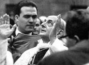 Roma, Maggio 1965 -  Papa Paolo VI a Piazza di Spagna