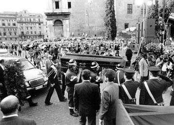 Roma, Giugno 1996 - Funerali di Luciano Lama