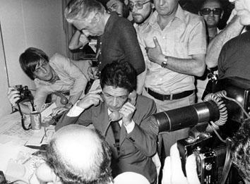 Roma, Giugno 1976 - Avanzata elettorale del Partito Comunista Italiano.Nella foto Enrico Berlinguer