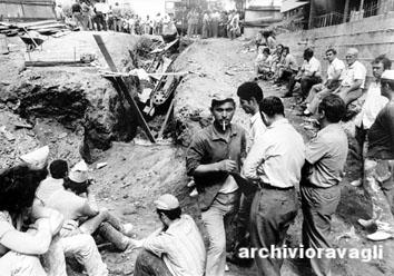 Roma, Giugno 1971 - Edilizia, morte sul lavoro