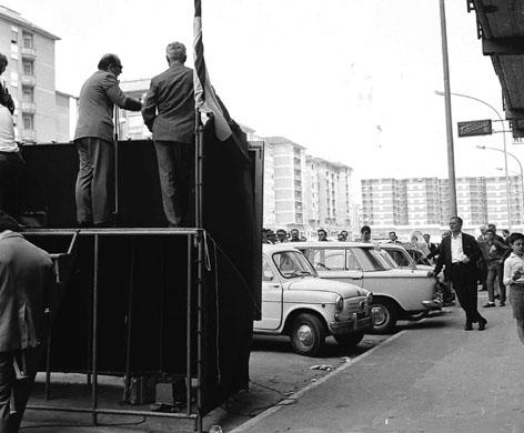Roma, Maggio 1968 - Propaganda elettorale Pci