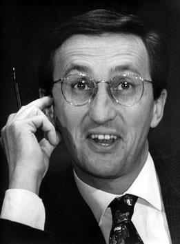 Roma, Febbraio 1995 - Gianfranco Fini al convegno Cattolici Liberali