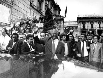 Roma, Giugno 1990 - Visita di Nelson Mandela in Campidoglio