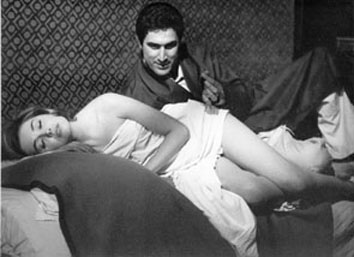 Roma,Febbraio 1965 - Lando Buzzanca e Ingeborg Schoemer (primo film osè)
