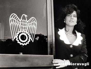Roma, Aprile 1996 - Emma Marcegaglia (Presidente giovani industriali)