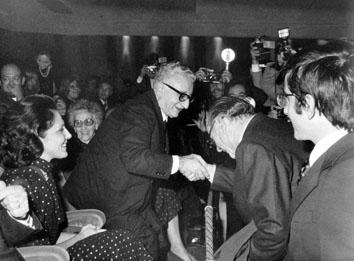 Roma, Novembre 1974 - Presidente Giovanni Leone  con Renzo Rossellini