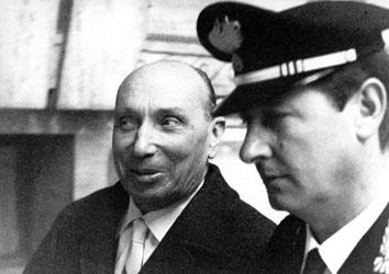 Roma, Gennaio 1968 - Processo Sifar, Generale Cento con Carabiniere Antonio Varisco
