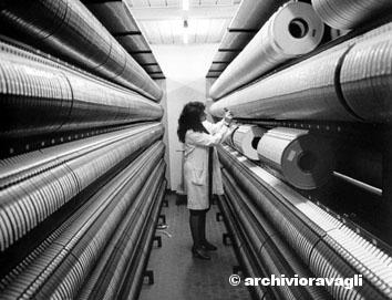 Roma, novembre 1986 - Centro elettronico Inps