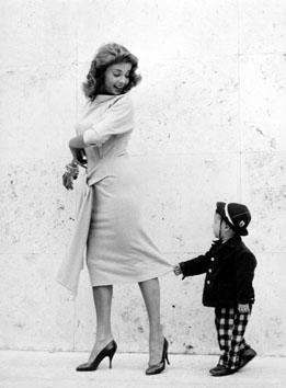 Roma, Settembre 1965 - Abbe Lane in posa per spot pubblicitario