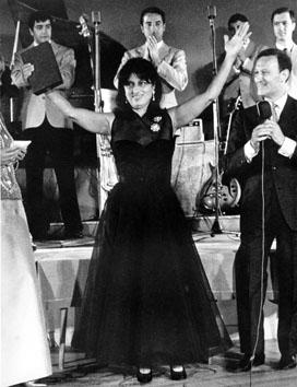 Riccione, Agosto 1965 - Anna Magnani e Nunzio Filogamo al Premio Riccione