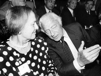 Roma, Maggio 1990 - Nilde Jotti e Gianni Agnelli all'Assemblea di Confindustria