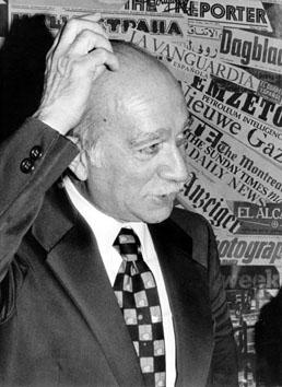 Roma, Novembre 1978 - Giorgio Almirante alla Stampa Estera