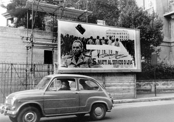 Roma, Marzo 1973 - Manifesto pubblicitario censurato