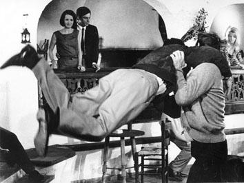 """Roma, Marzo 1965 - Ken Clark durante le riprese del film pre """"007"""""""