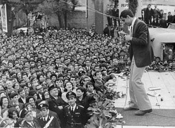 Frascati (Roma), Marzo 1965 - Adriano Celentano al Frascati Disco d'Oro