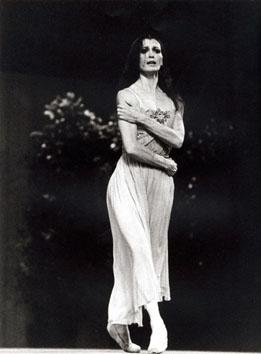 Roma, Giugno 1980 - Carla Fracci balla alla manifestazione elettorale donne Pci