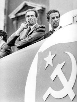 Roma, Giugno 1980 - Luciano Lama e Enrico Berlinguer