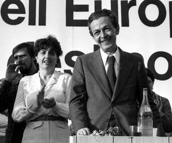 Roma, Maggio 1979 - Enrico Berlinguer alla manifestazione donne Pci