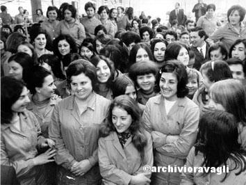 Roma, Gennaio 1969 - Donne lavoratrice Mcqueen