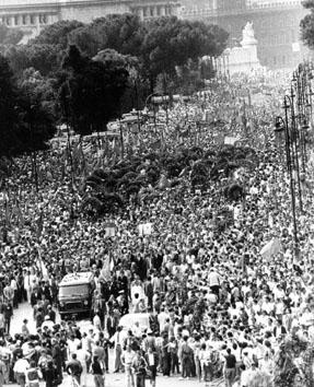 Roma, Giugno 1984 - Funerali Enrico Berlinguer