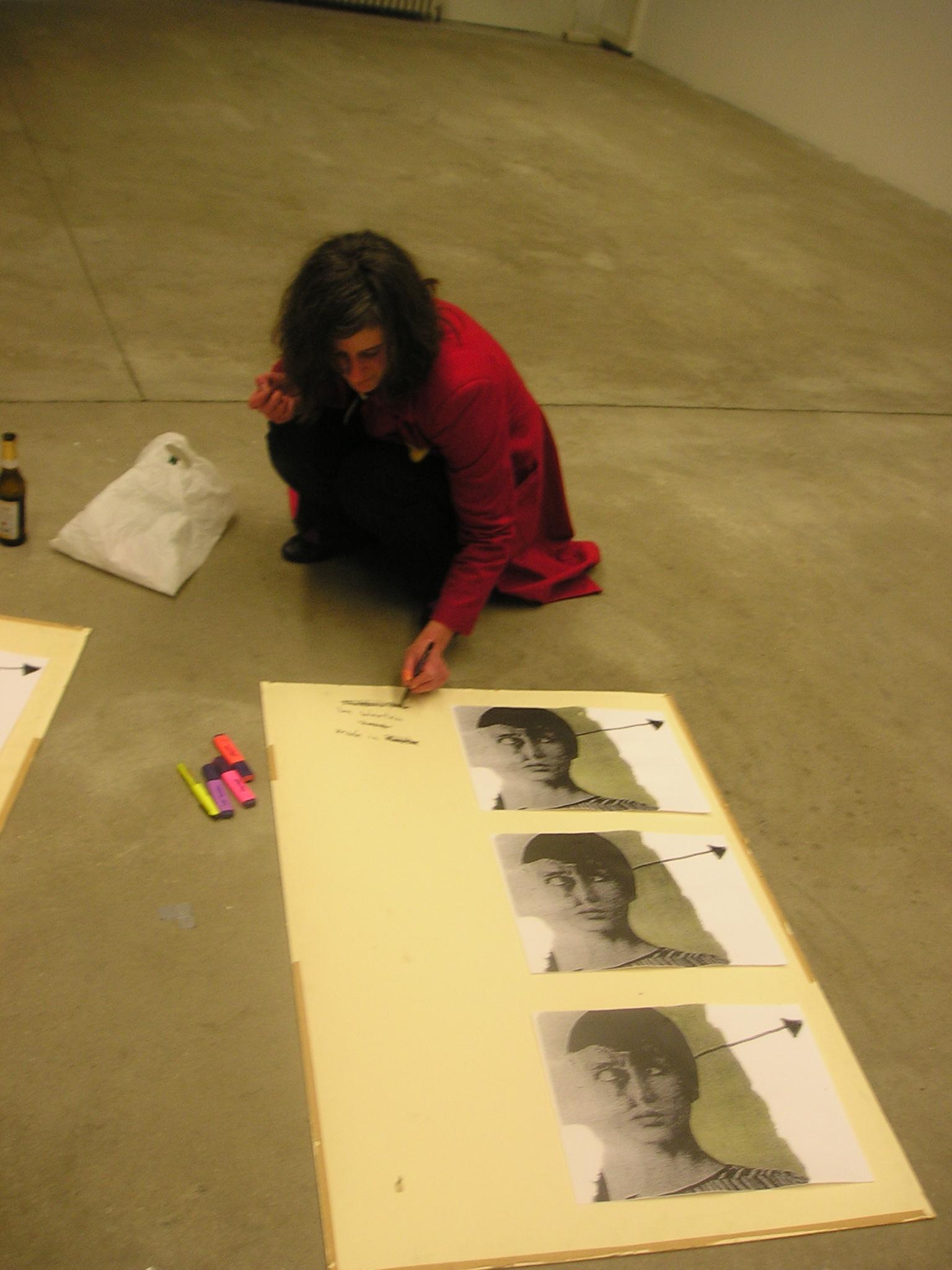 frau kraushaars kunst bekritzelt, galerie tristesse , berlin.