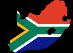 Flaggenkarte von Süd Afrika