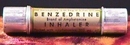 Ein damaliger Benzedrin Inhalator, der eine Sucht vieler Leute ausgelöst hat.