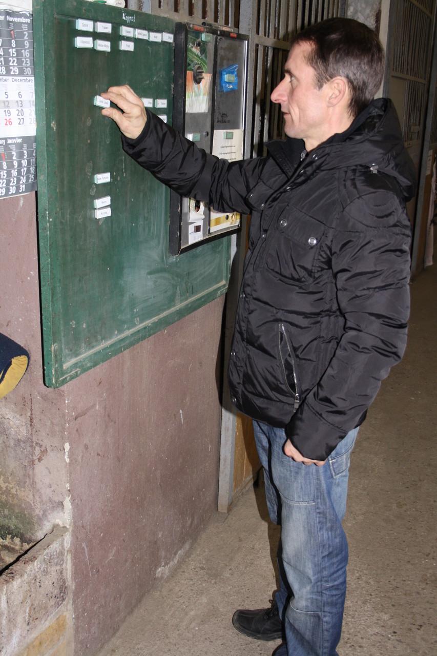 Marco Angermann bei der Arbeit