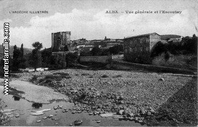 Alba, vue du pont de la Cave coopérative