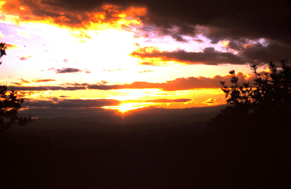 Coucher de soleil sur l'Ardèche - janvier 2012
