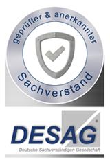 geprüfter & anerkannter Sachverstand - DESAG Siegel
