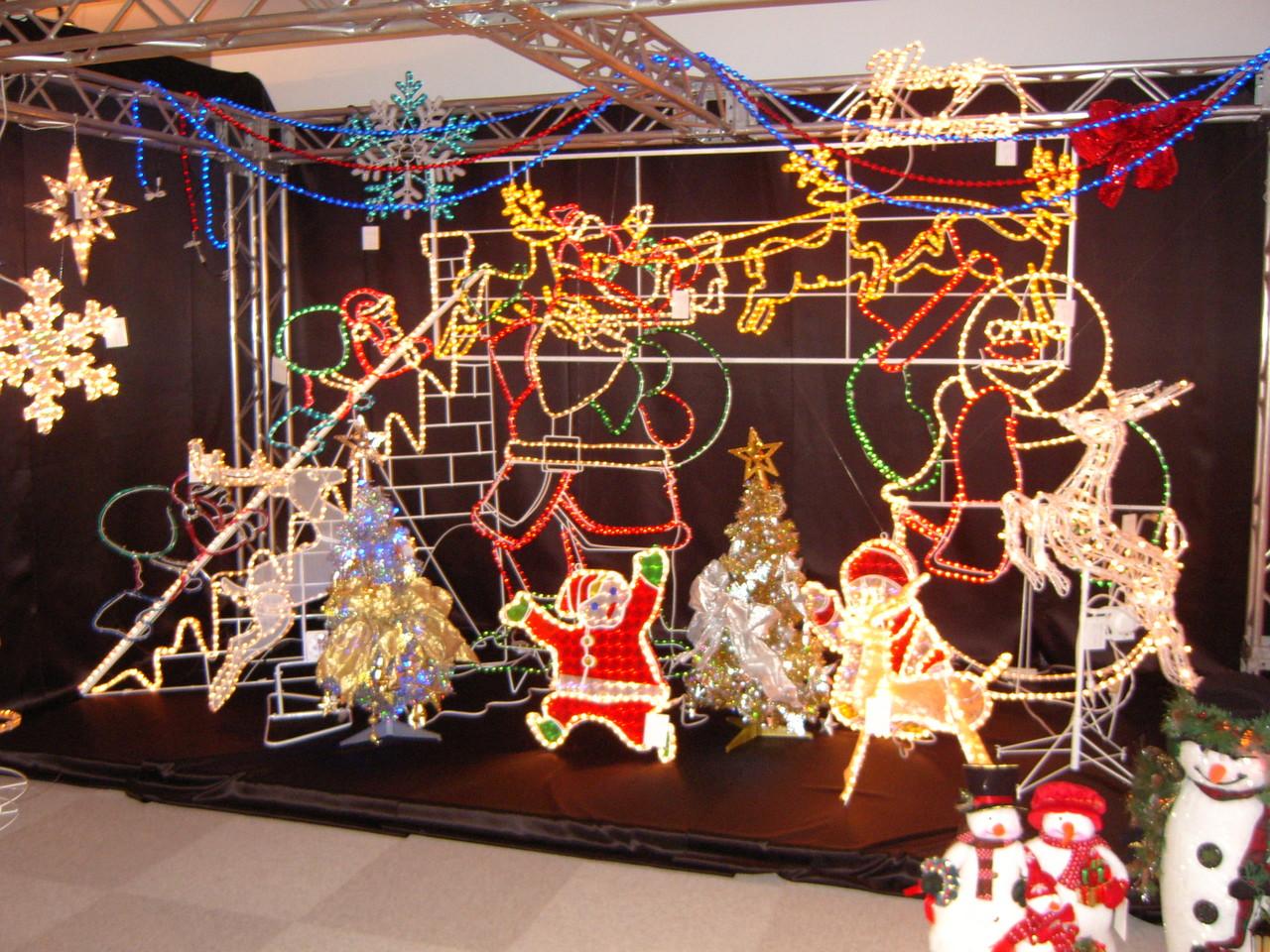 クリスマスシーンのディスプレイです。