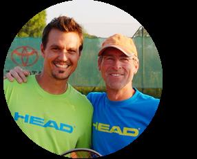 Sunshine Tennis, David und Tom