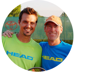 Sunshine Tennis, David und Tom