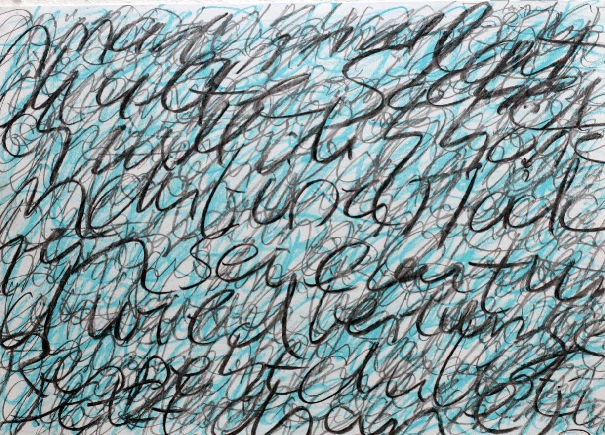 story IV - 2015 - Bleistift, Kohle, Pastellkreide auf Papier - 30 x 42 cm