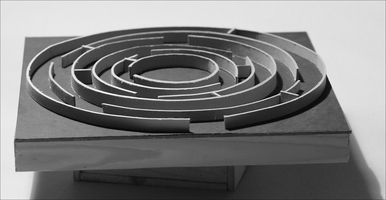 Ohne Titel - 2004, Pappe auf Holz, zweitieilig, 30 x 30 cm