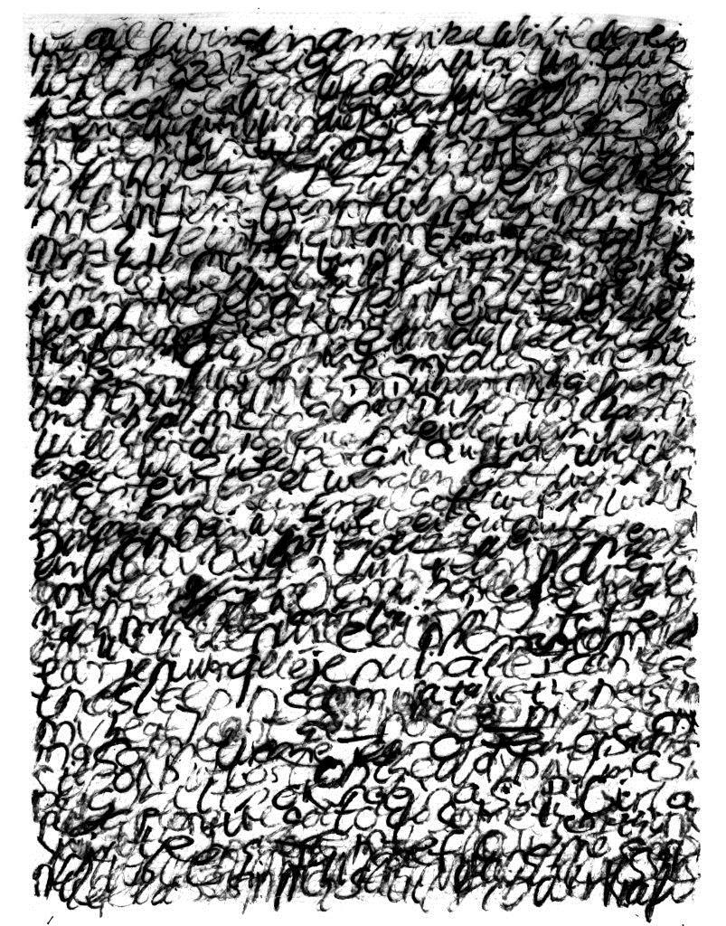 ohne titel - 2018 - Handschrift in Acryl auf Noppenfolie - 168 x 120 cm