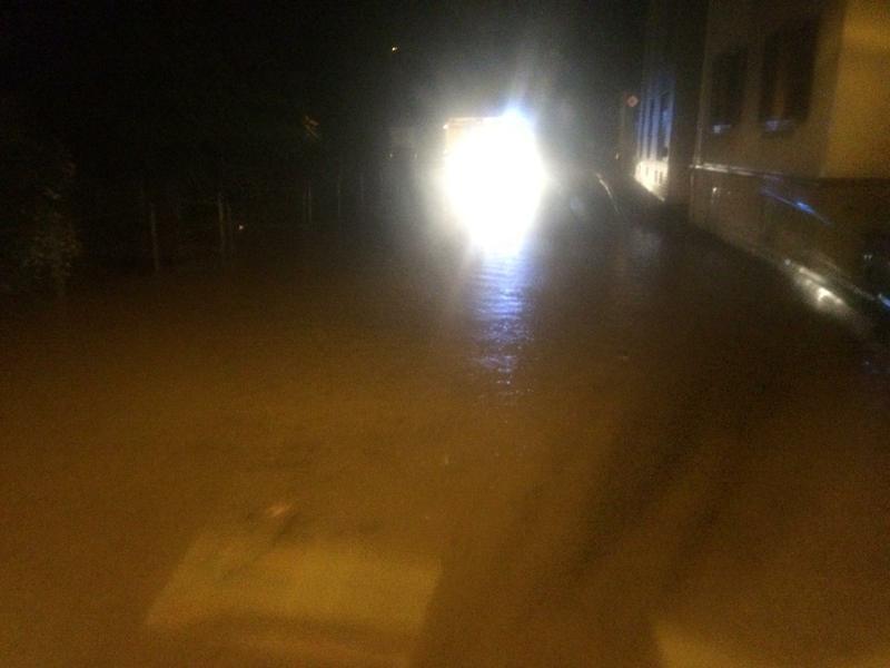 Anfahrt zur Einsatzstelle Hochwasser in Sailauf