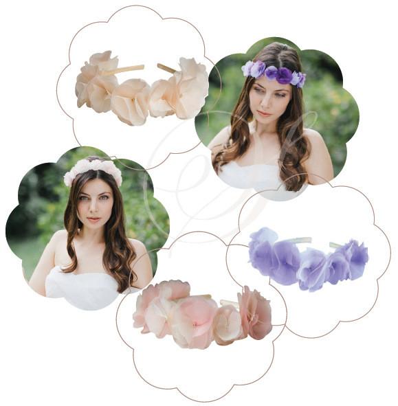 Blumen-Haarreif für die Braut