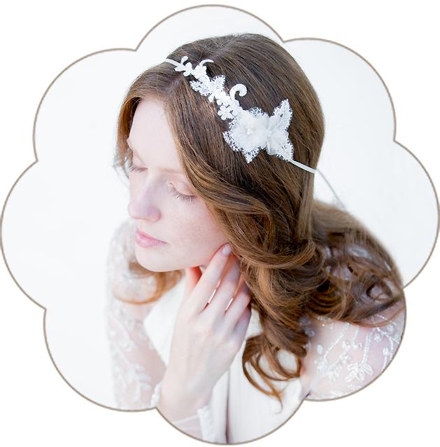 Vintage Fascinator aus Spitze. Vintage Kopfschmuck in Ivory. Spitzen Haarschmuck. Lace Headpiece wedding. Lace Fascinator for the boho look.