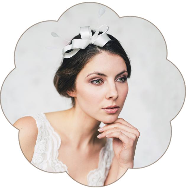 Fascinator mit Netzschleier und Haarblüte Seide für Hochzeit und Standesamt. Hairaccessoires, Fascinator, birdcage wedding.