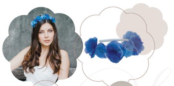 Haarkranz in Blau zu Jeans oder Trendige Outfits